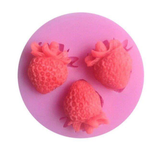 Strawberry Silicone Cake Fondant Mold DIY Baking Tools Kitchen Accessories