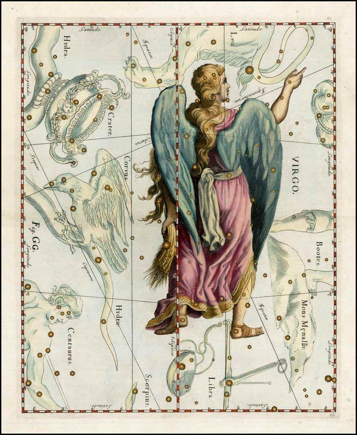 Virgo - Johannes Hevelius Firmamentum Sobiescianum sive Uranographia