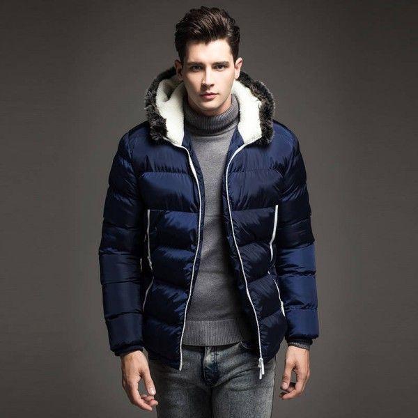 Buy a Color #Mens #Winter #Jackets Men's #Parka #Fur #hood Men #Coat Winter #Casual & #Fit #Thick #Man from #fashionothon fashionothon.com https://fashionothon.com