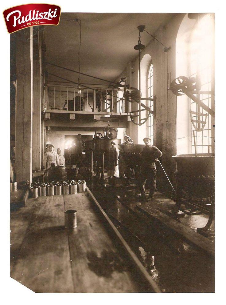 Hala procesu sterylizacji w 1929r. - Pudliszkach. #pudliszki #historia