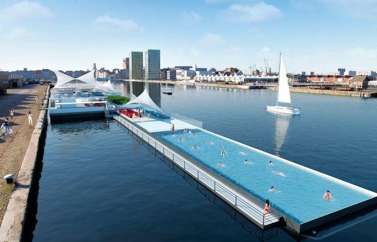 Antwerpen, BadbootSpaces, Swimming Pools, Favorite Places, Antwerpen, Floating Pools, Belgium, Badboot, Architecture, Outdoor Design