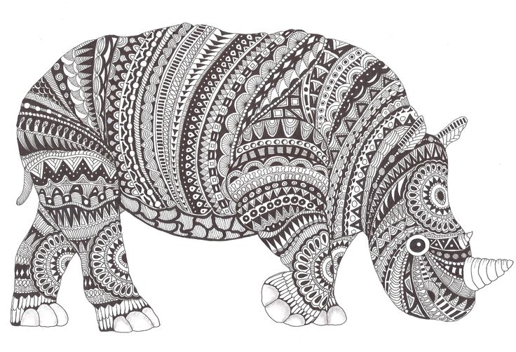 Best zentangle animals images on pinterest coloring