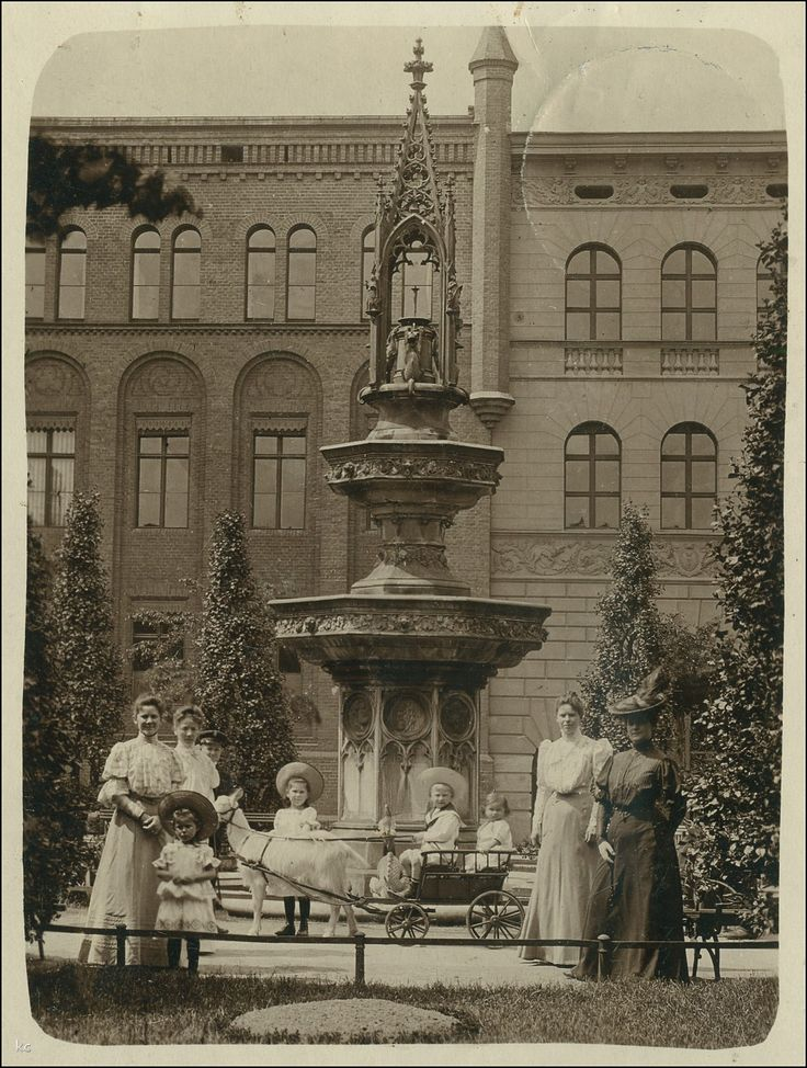 Lastadia 2 (Städtische Gymnasium, Technikum Przemysłu Spożywczego i Chemicznego), Gdańsk - 1906 rok, stare zdjęcia