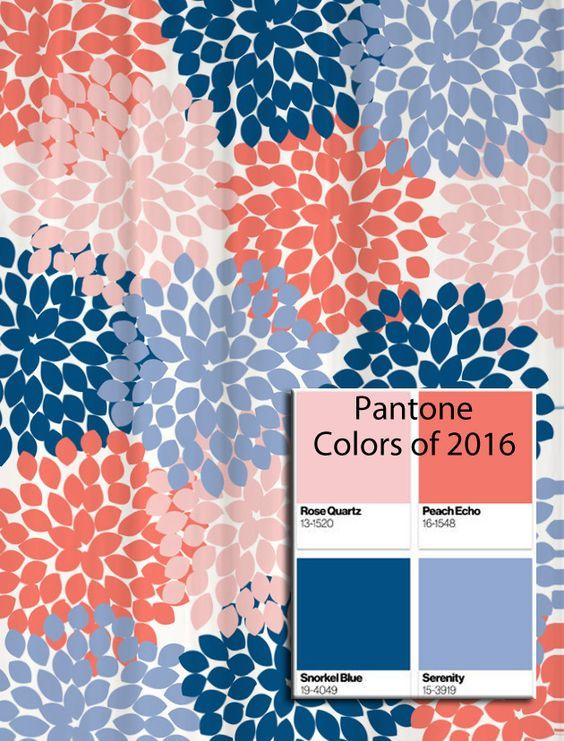 Dahlia Floral Shower Curtain in Pantone Colors of 2016!: