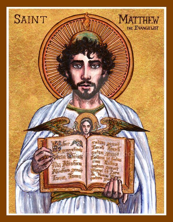 """""""St. Matthew the Evangelist"""" icon by Theophilia on DeviantArt #ReligousIcons #CatholicArtwork #StMathew"""