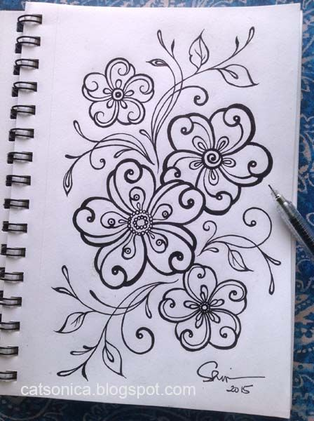 #doodle #inkdoodle #flower #floraldesign #doodlies