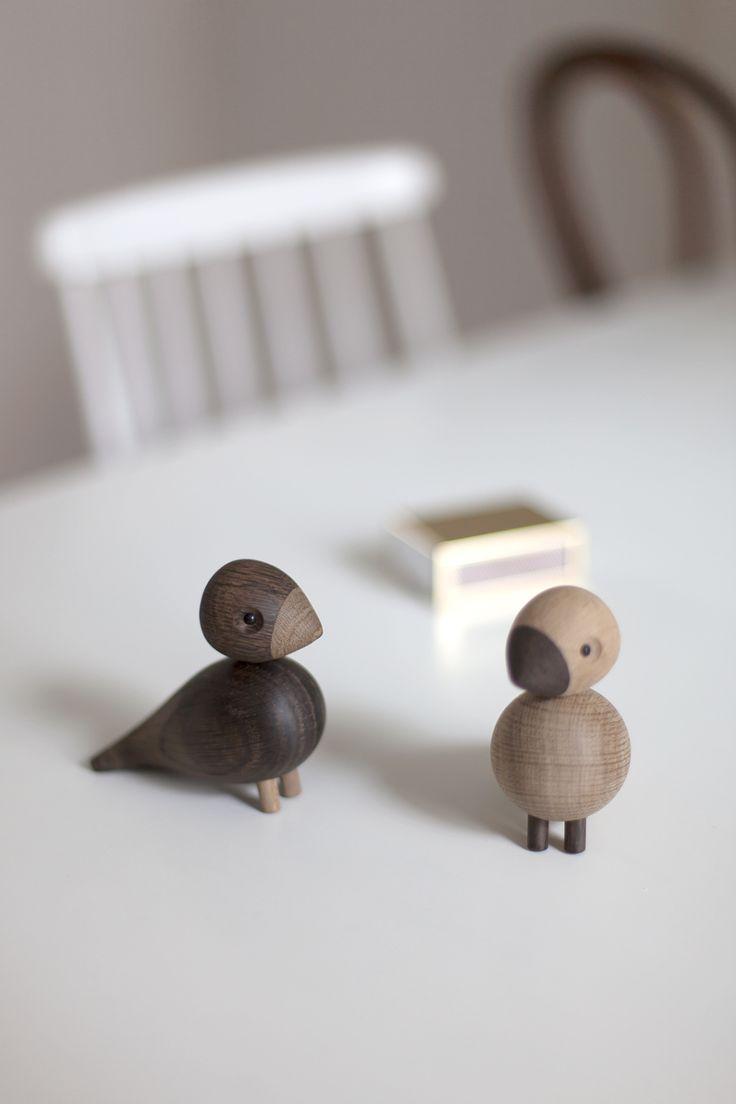 wooden design birds lovebirds - danish design - designer Kai Bojesen Denmark - Kai Bojesen Turtelduer