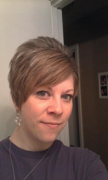 My short asymmetrical cut