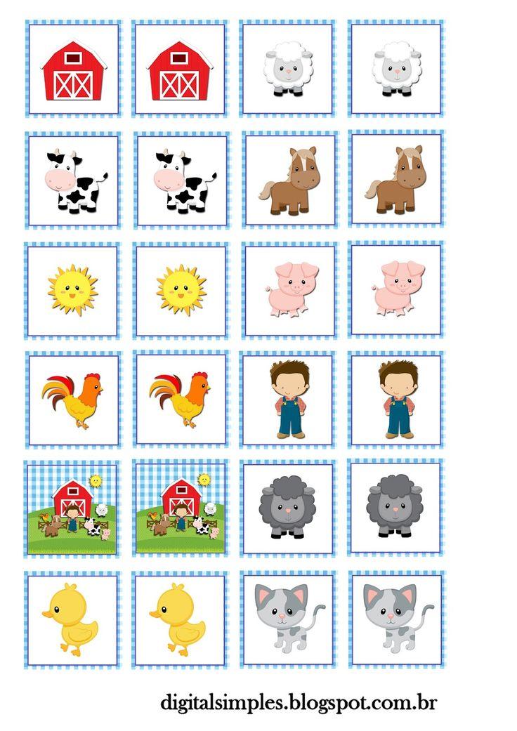 "Convites Digitais Simples: Kit Personalizados Tema ""Fazendinha Menino"" para Imprimir"