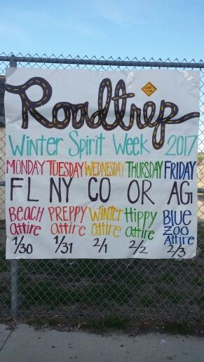 "Arroyo Grande High School celebrating Winter Spirit Week with the theme ""Road Trip."" Let the traveling begin!"