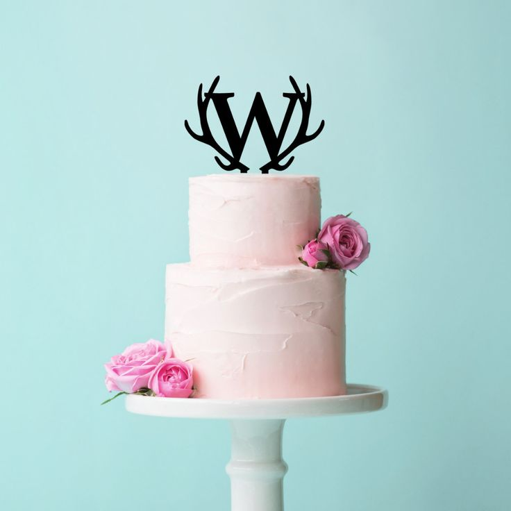 This boho chic monogram letter wedding cake topper is a unique way to personalize your wanderlust style wedding cake. Perfect for your rustic or boho wedding! Available in natural wood for a vintage t