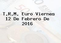 http://tecnoautos.com/wp-content/uploads/imagenes/trm-euro/thumbs/trm-euro-20160212.jpg TRM Euro Colombia, Viernes 12 de Febrero de 2016 - http://tecnoautos.com/actualidad/finanzas/trm-euro-hoy/trm-euro-colombia-viernes-12-de-febrero-de-2016/