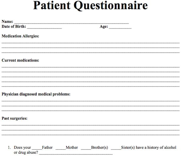 Health Survey Template - Resume Template Sample