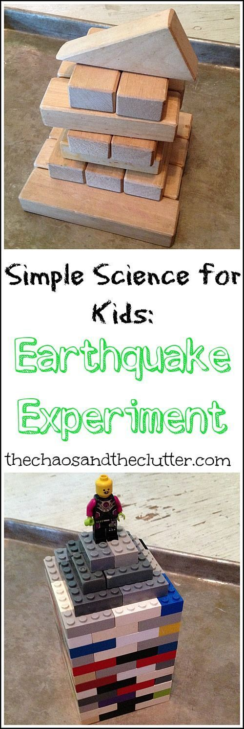 220 best education science images on pinterest science simple science earthquake experiment fandeluxe Image collections