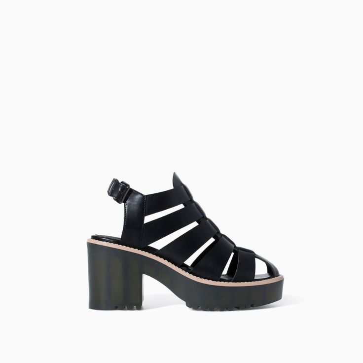 HIGH HEEL JELLY SHOE WITH TRACK SOLE - Shoes - TRF - SALE | ZARA Canada Ref. 3610/301 99.90 CAD UPPER 100% POLYURETHANE LINING 100% POLYURETHANE SOLE 100% THERMOPLASTIC RUBBER
