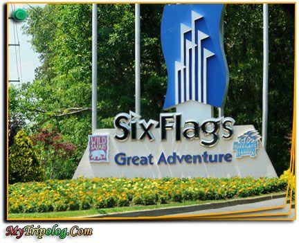 six flags great adventure entrance,USA amusement parks,new jersey