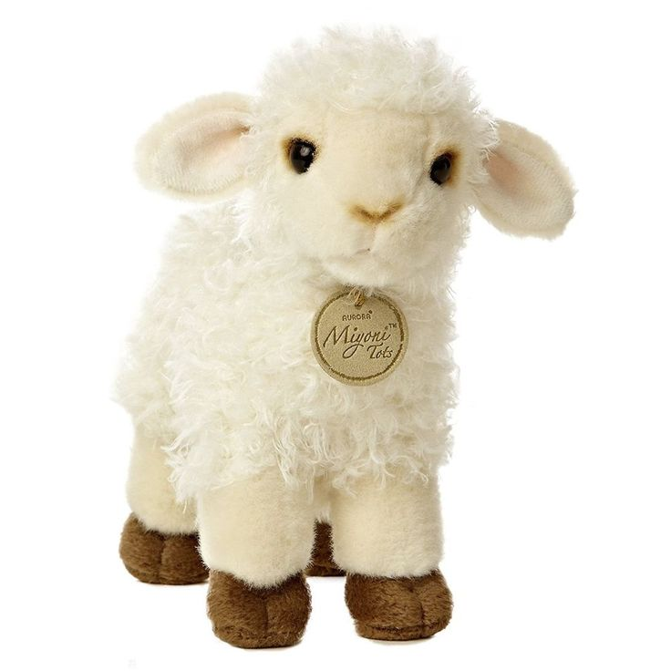 "Plush Lamb Toy Lovely Stuffed Animal 7"" Easter Sheep Realistic Soft Huggable New #Aurora"