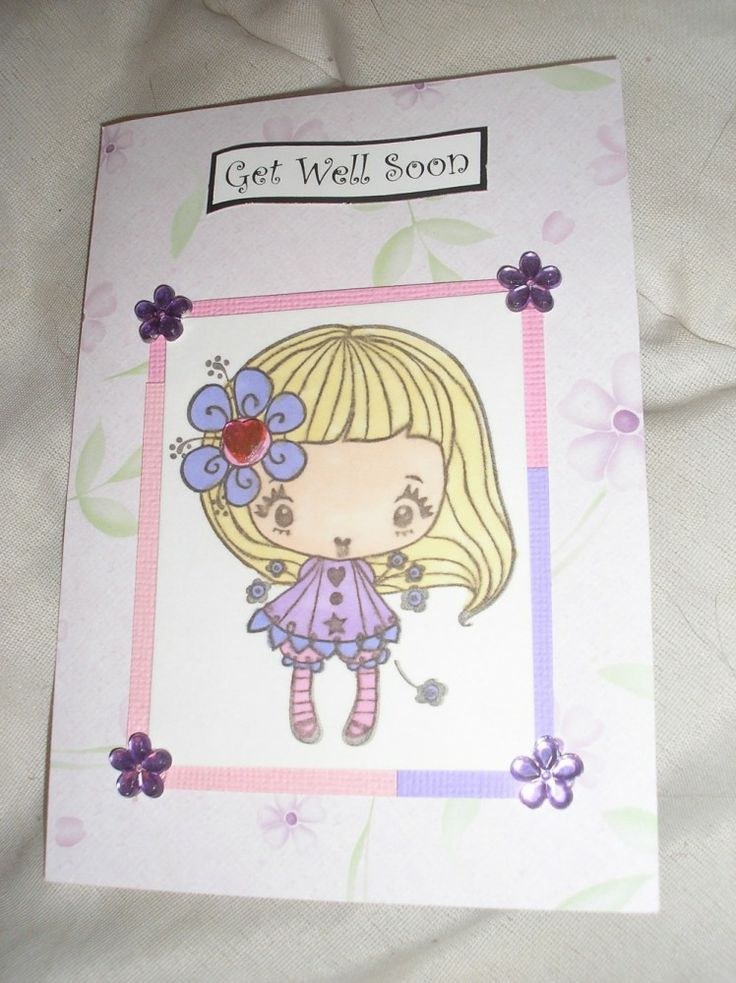 TrimCraft - Cute Get Well Soon A Card