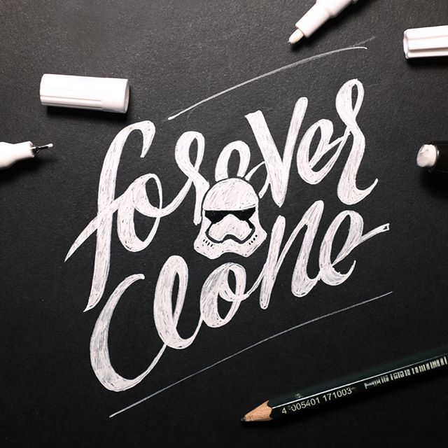 31/366 'Forever a clone' a #stormtrooper pun. #366project #starwars