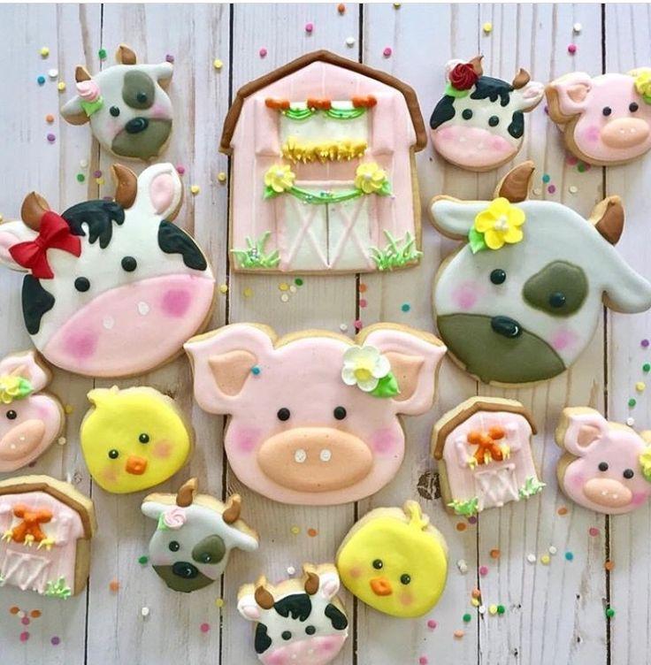 So cute farm idea cookies