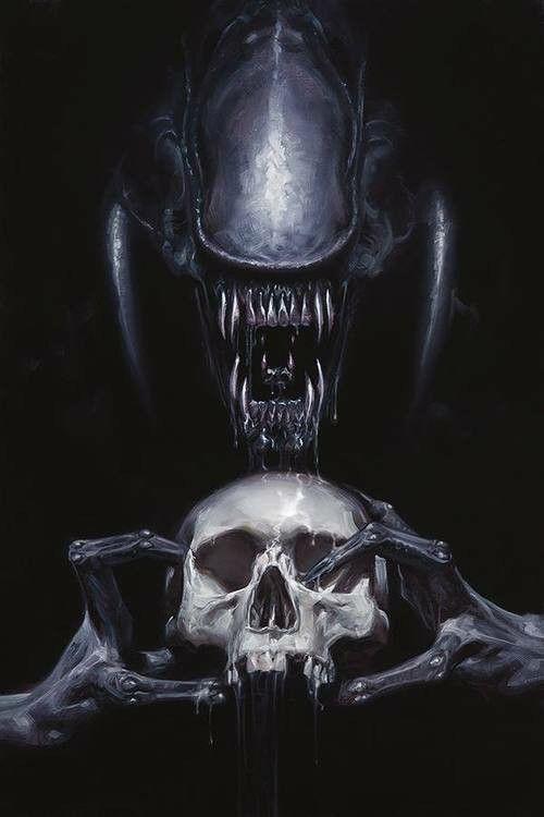 Skull n alien
