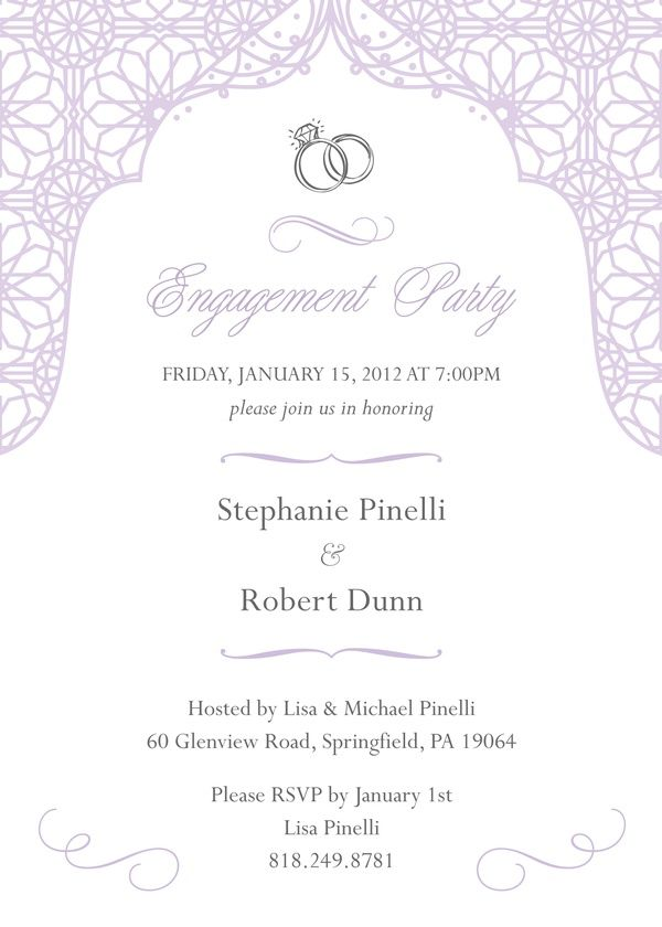 41 best Engagement Party Invitations images on Pinterest ...