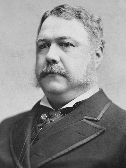 21.Chester Arthur In office September 19, 1881 – March 4, 1885 Vice President None[a]. Born Chester Alan Arthur October 5, 1829 Fairfield, VT. Died November 18, 1886 (aged 57) Manhattan, N.Y. Resting place Albany Rural Cemetery Menands, N.Y. Spouse(s) Ellen Herndon (m. 1859; d. 1880)(m. 1859; d. 1880) Children 3, Chester, William, &Ellen  Parents William Arthur  Malvina Stone