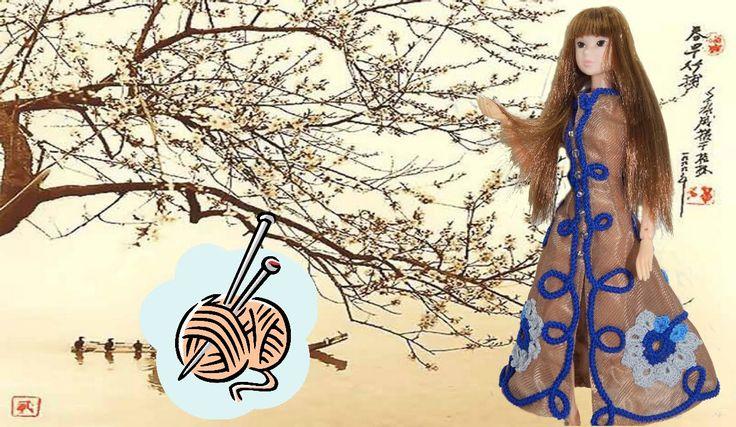 Momoko Wake up dress craft coat Gzhel