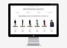 Logo and responsive website designed by Bielke+Yang for contemporary fashion distributor Holzweiler