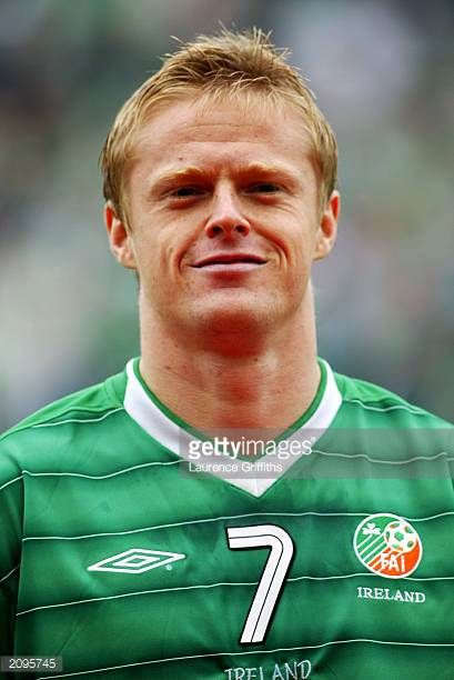 Portrait of Damien Duff of the Republic of Ireland taken before the UEFA European Championships 2004 Group 10 Qualifying match between Republic of...
