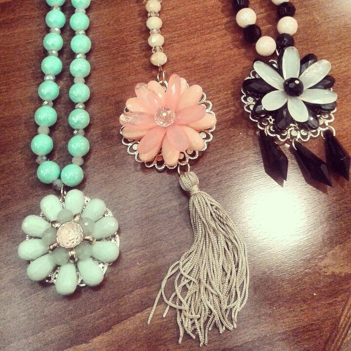 Fashion long necklaces s/s2015 flowers