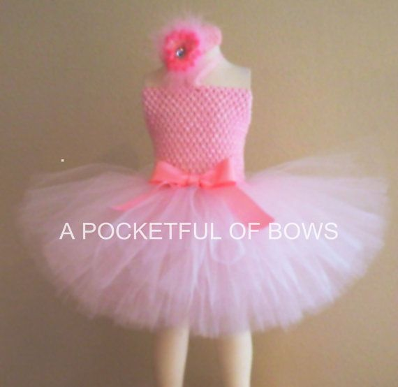 Pink Princess Tutu Dress Pink Birthday Tutu by APocketfulofBows