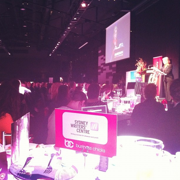 Our @sydneywriters table at #businesschicks this morning.