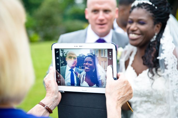 iPad of the bride & groom. Wedding photography for Abe & Marsha who got married at Oakley House Bromley June 2016