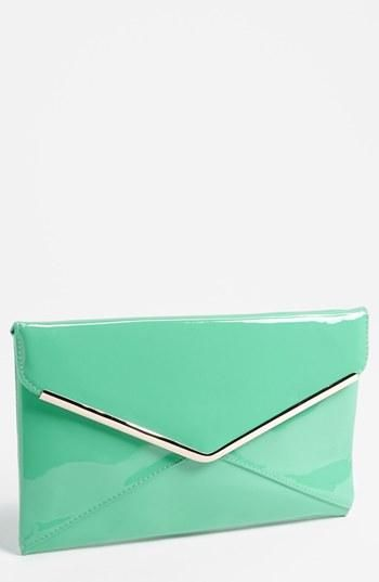 Love! Mint envelope clutch