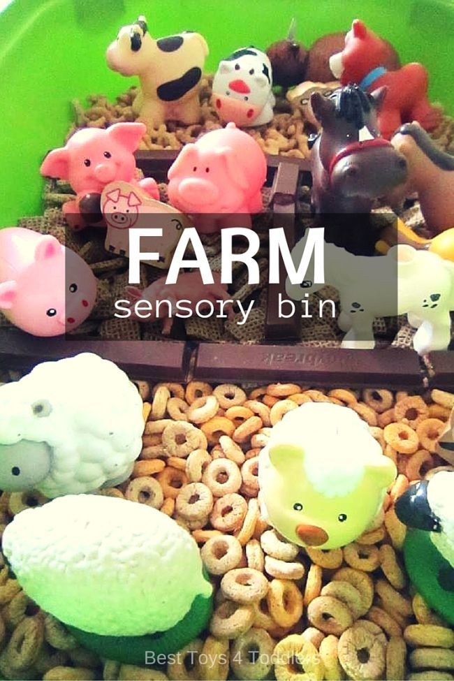 Farm Sensory Bin - sorting animals and learning about farm animals through sensory play, perfect for toddlers and preschoolers