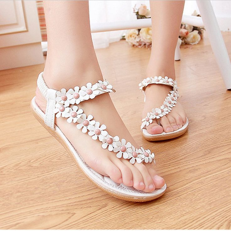 Summer Women Sandals 2017 Fashion Bohemia Women's Shoes Flower Sandalias Femininas Casual Thong Flats Shoes Women