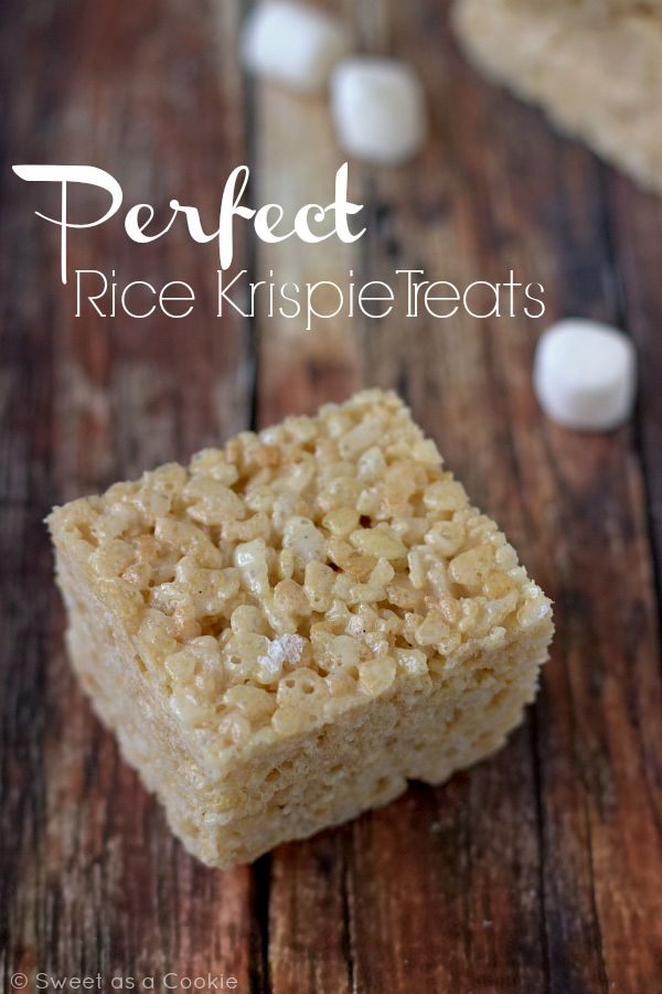 My Secrets to the Perfect Rice Krispie Treats via Sweet as a Cookie
