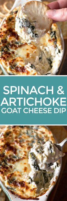 Spinach & Artichoke Goat Cheese Dip   cakenknife.com