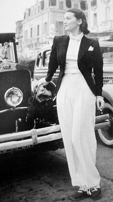 Great wide legged 1930s trousers. #vintage #1930s #fashion