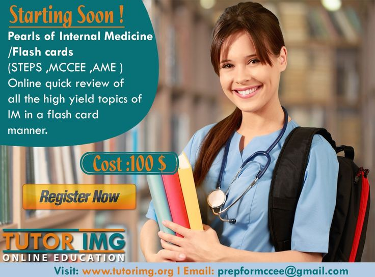 Pearls of Internal Medicine / Flash cards ( STEPS ,MCCEE ,AME ) Online quick review of all the high yield topics of IM in a flash card manner. Starting soon ! Cost :100 $ Register now.: prepformccee@gmail.com