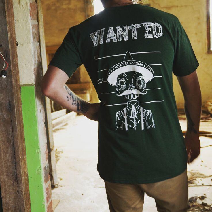 Green tee  Mex man back print