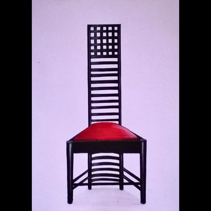 Hill House Chair, Ilustracion By Armando Buitrago #sketch #sketchbook  #marcadores #markers