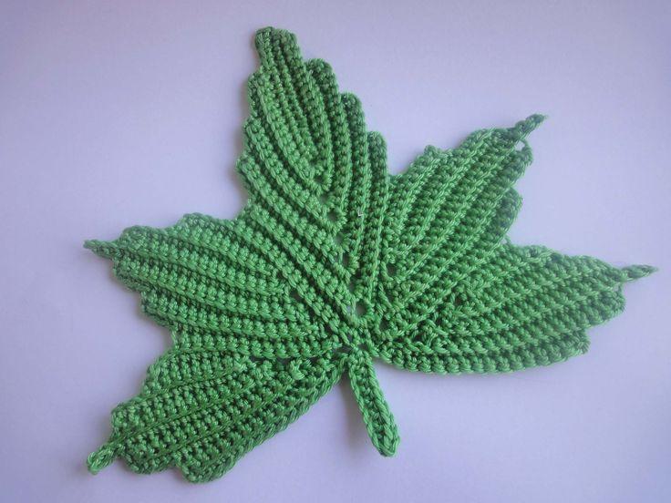 Кленовый лист Часть 1 The maple leaf Crochet Part 1