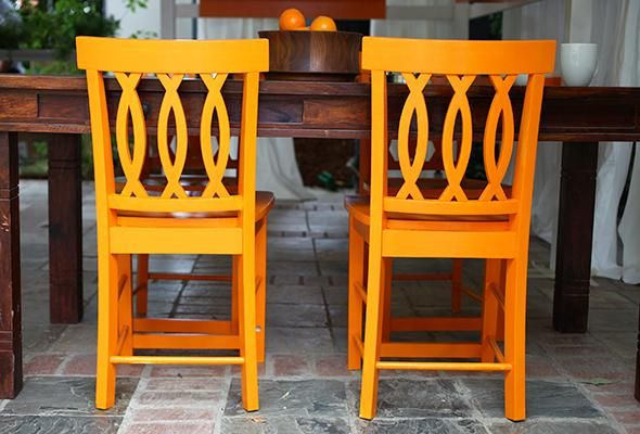 Use designer Kenneth Wingard's instructions to bring wooden furniture safely outside.