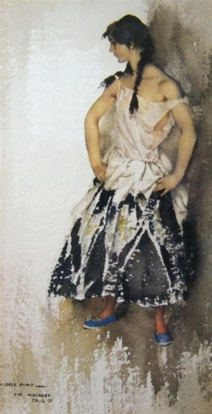 William Russell Flint - Maggie Posing
