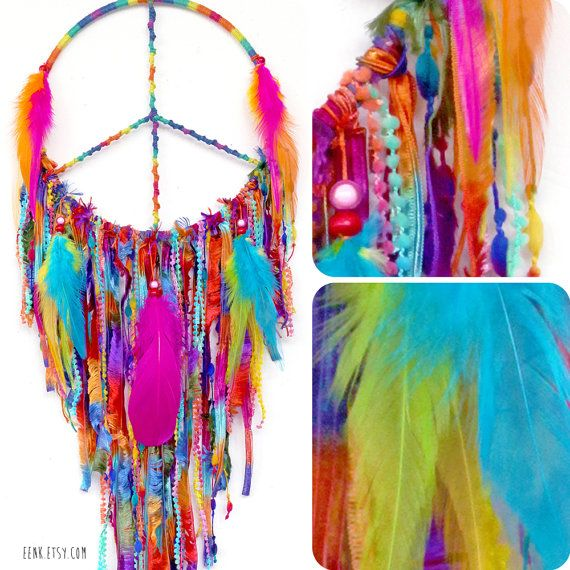Peaceful Pow Wow Large Native Style Woven Dreamcatcher by eenk, $79.00
