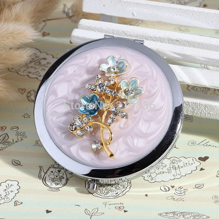 Find More Makeup Mirrors Information about Carve letters free,rhinestone flower Beauty pocket mirror,wedding party gift,stainless steel,makeup compact mirror,free shipping,High Quality steel terminal,China mirror drawer Suppliers, Cheap steel sites from YOYO fashion accessories store on Aliexpress.com