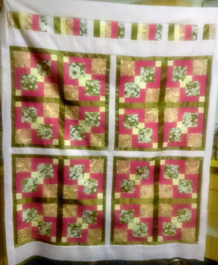 disappearing 9-patch patchwork quilt top ready for quilting
