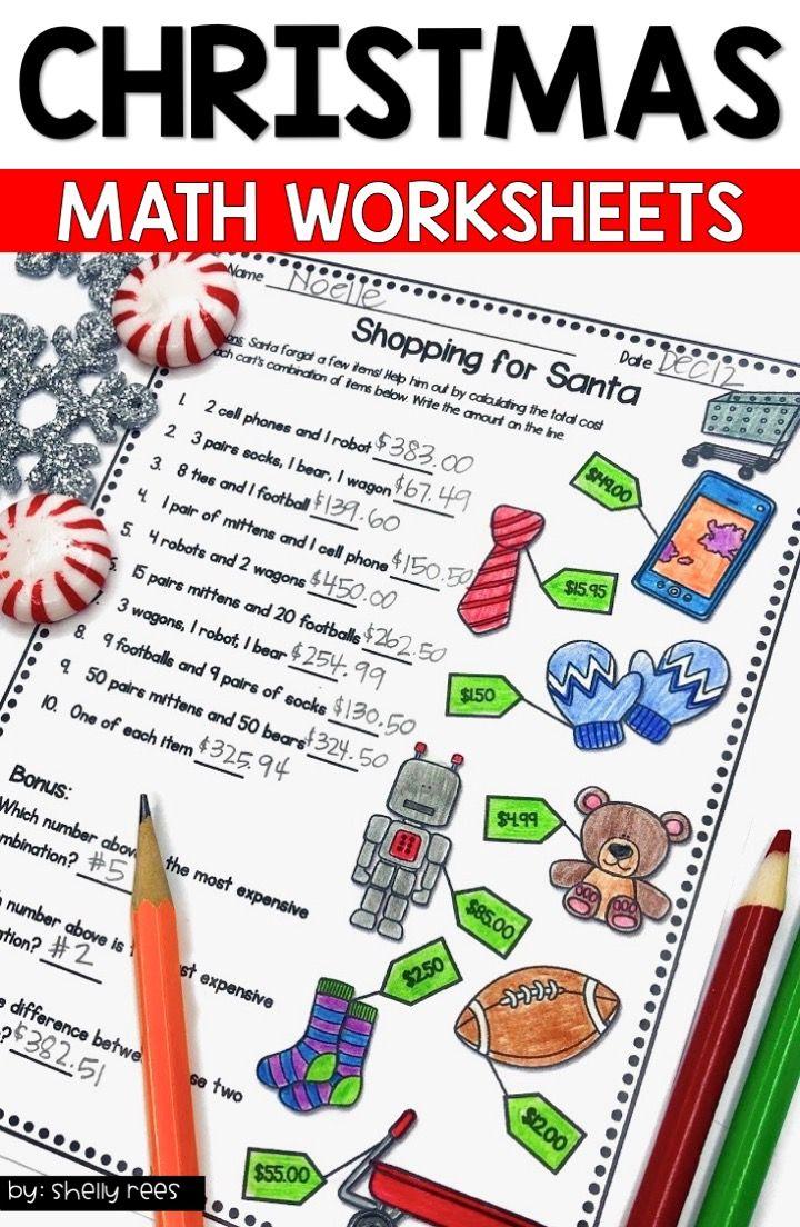 Christmas Math Worksheets Christmas Math Worksheets Christmas Math Activities Christmas Math [ 1104 x 720 Pixel ]